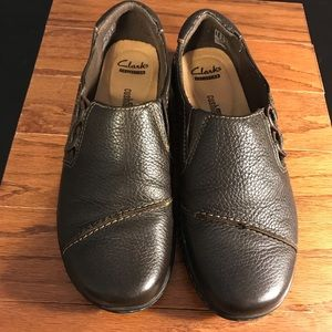 Clark's Collection Soft Cushion Brown Loafers 8.5
